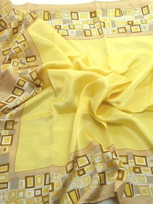 Платок желтый принтованный | 2669148