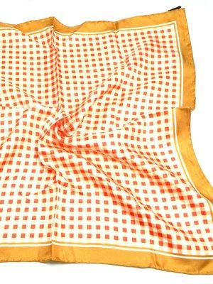 Платок оранжевый в клетку | 2669183