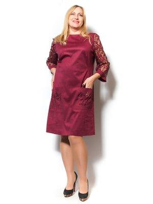 Платье бордовое | 2775928
