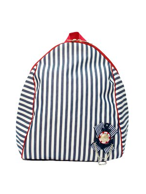 Рюкзак сине-белый в полоску | 2782261