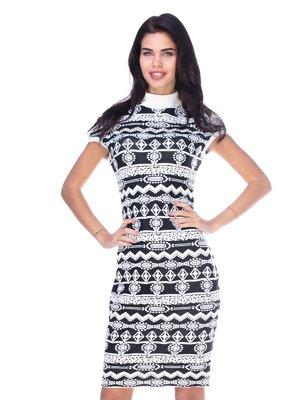 Платье черно-белое | 2786983