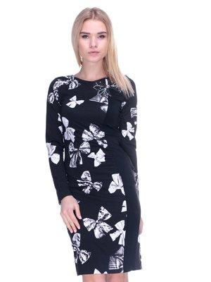 Платье черное в принт | 2787022