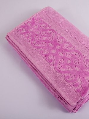 Рушник махровий рожевий (50х90 см) | 2331600