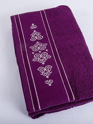 Полотенце махровое фиолетовое (70х140 см) | 2750609