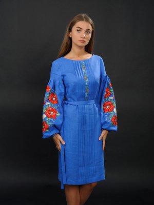 Платье синее с вышивкой | 2800870