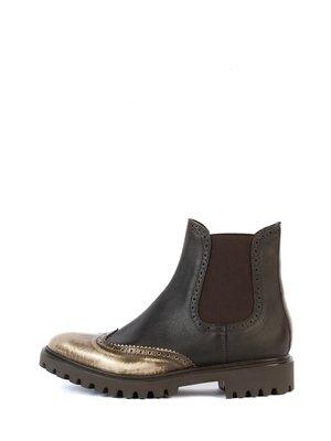 Ботинки коричнево-золотистые | 2800233