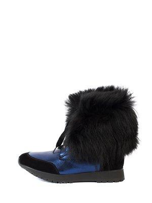 Ботинки черно-синие | 2800428