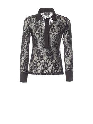 Блуза черная ажурная | 2812383