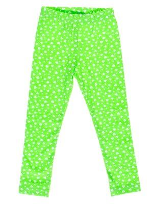 Легінси зелені принт | 2821108
