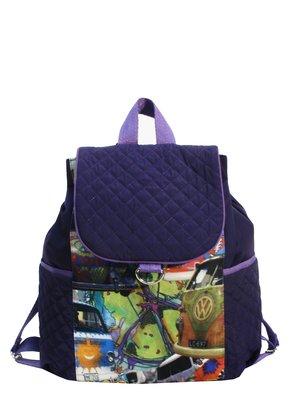 Рюкзак фіолетовий з принтом | 2822714