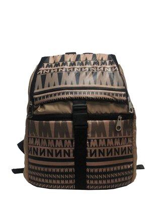 Рюкзак коричневый с принтом | 2822643