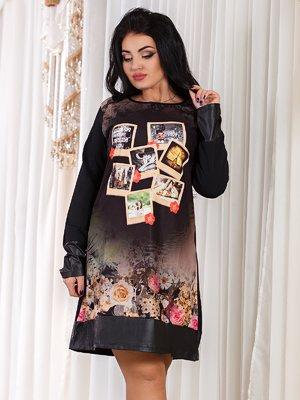 Платье черное с принтом | 2824283