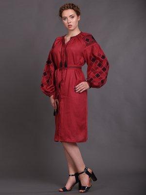 Платье бордовое | 2827232