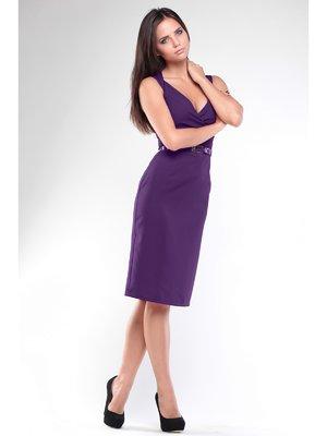 Сукня-сарафан темно-фіолетова | 2833486