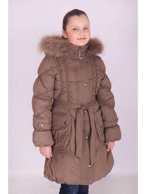 Пальто коричневое   1975189