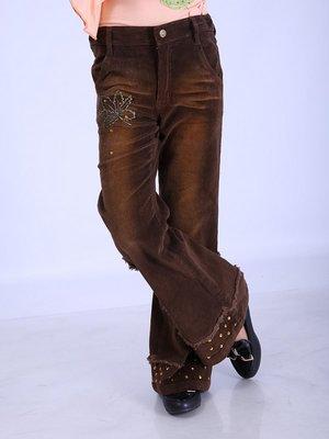 Штани коричневі з паєтками | 2834317