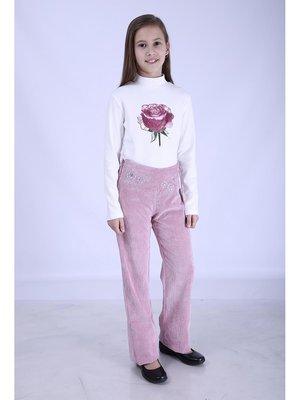 Брюки розовые вельветовые | 2834320