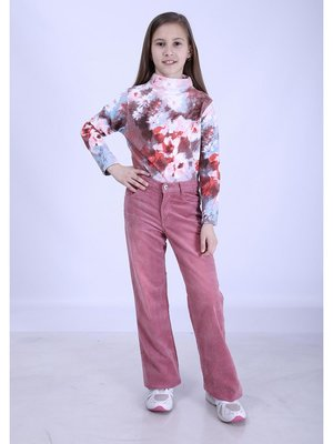 Штани рожеві вельветові | 2834321
