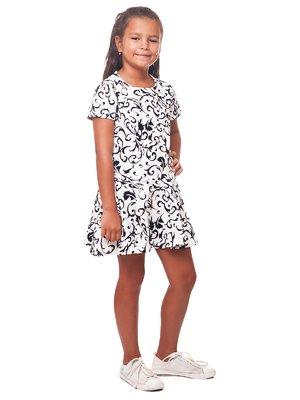 Сукня біла в принт | 2487274
