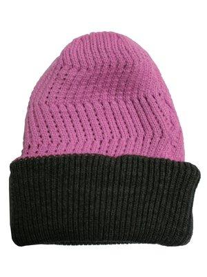 Шапка рожево-сіра подвійна | 2844903