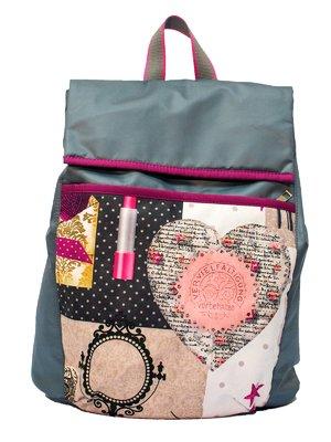 Рюкзак серый с принтом | 2854961