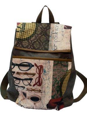 Рюкзак серый с принтом | 2854964
