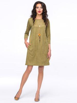 Платье оливкового цвета | 2855748