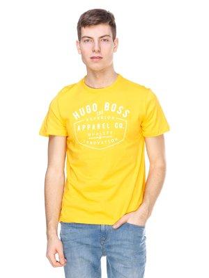 Футболка желтая с надписями | 2146862