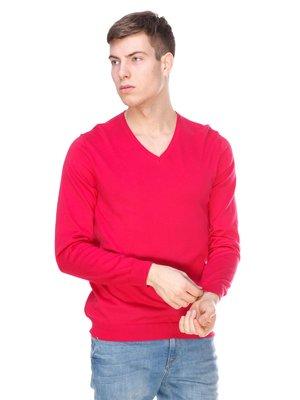 Пуловер малинового кольору | 1392267