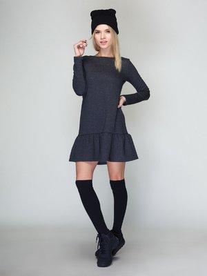 Платье темно-серое | 2871648