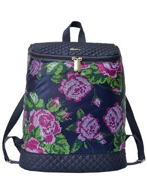 Рюкзак темно-синий в цветы | 2854978