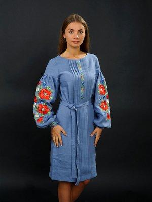 Сукня синя з вишивкою | 2875051
