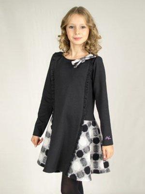 Сукня чорна в принт | 3197715