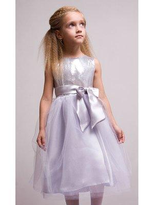 Платье серебристо-белое новогоднее | 2885281