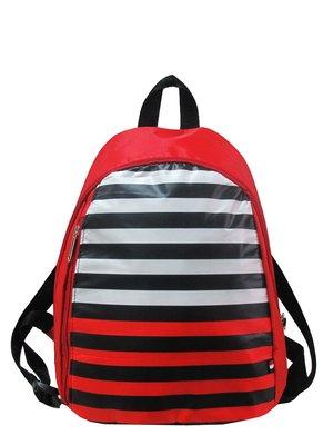 Рюкзак красный в полоску | 2897552