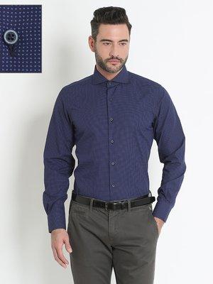 Рубашка синяя в горох | 2899631