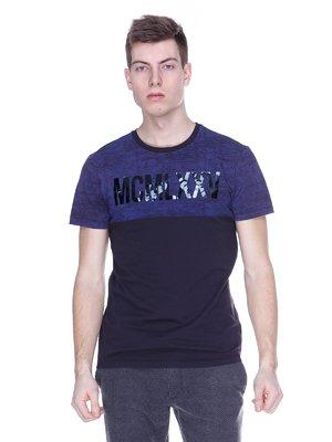 Футболка фиолетово-черная с надписью | 2098887