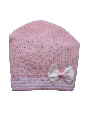 Шапка рожева з декором | 2903057