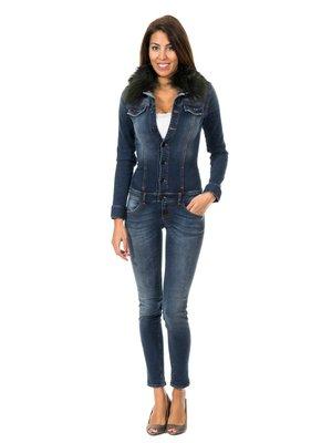 Комбінезон темно-синій джинсовий | 2906004