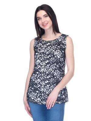 Блуза біло-чорна | 1793386