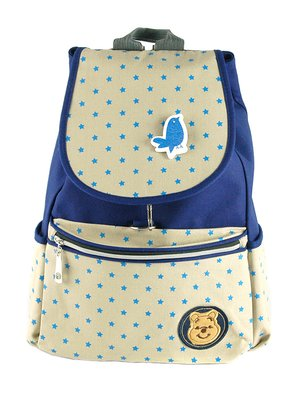 Рюкзак молочно-синій у горох | 2918042