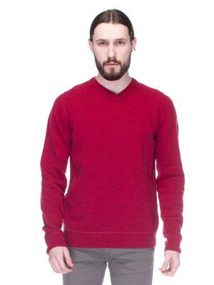 Пуловер бордовый | 1353698