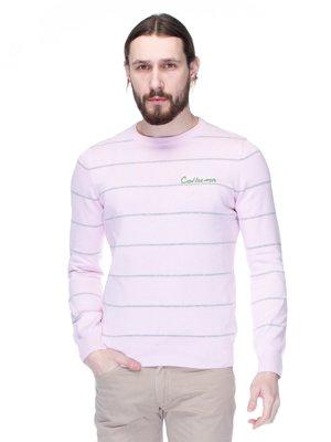 Джемпер светло-розовый в полоску | 1353589