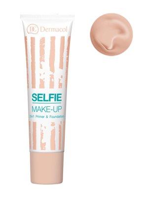 Тональний крем и база 2 в 1 № 2 Selfie Make-up Primer&Foundaition (25 мл) - Dermacol - 2915233