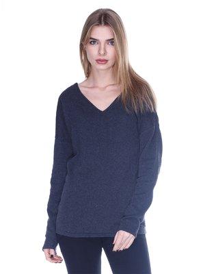 Пуловер темно-серый | 1443298
