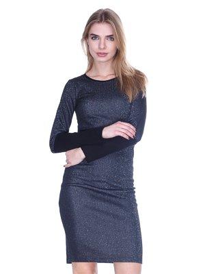 Сукня темно-сіра з люрексом | 1443410