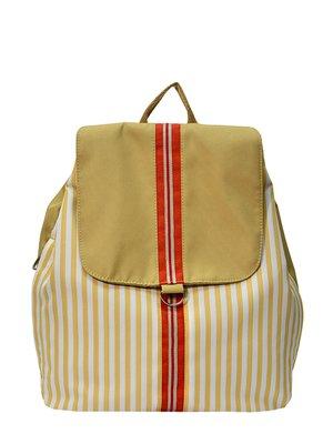 Рюкзак бежевый в полоску | 2782283