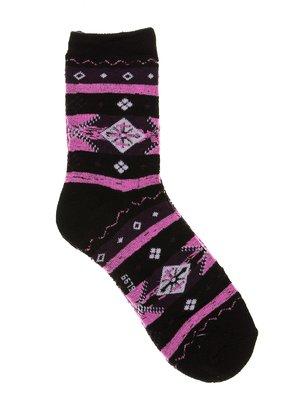 Шкарпетки чорні у принт | 2917032