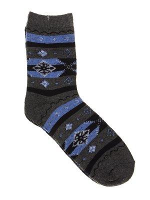 Шкарпетки сірі в принт | 2917028