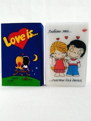 Мыло ручной работы в коробочке Love is синее (90 г)   2931152